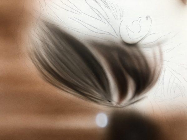 髪の毛の影の色