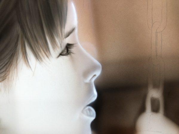 エアブラシアート人物画コース肌の描き方