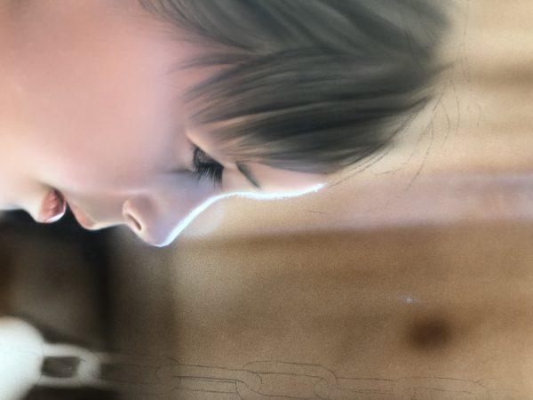 エアブラシアート人物画コース髪の描き方肌のハイライト