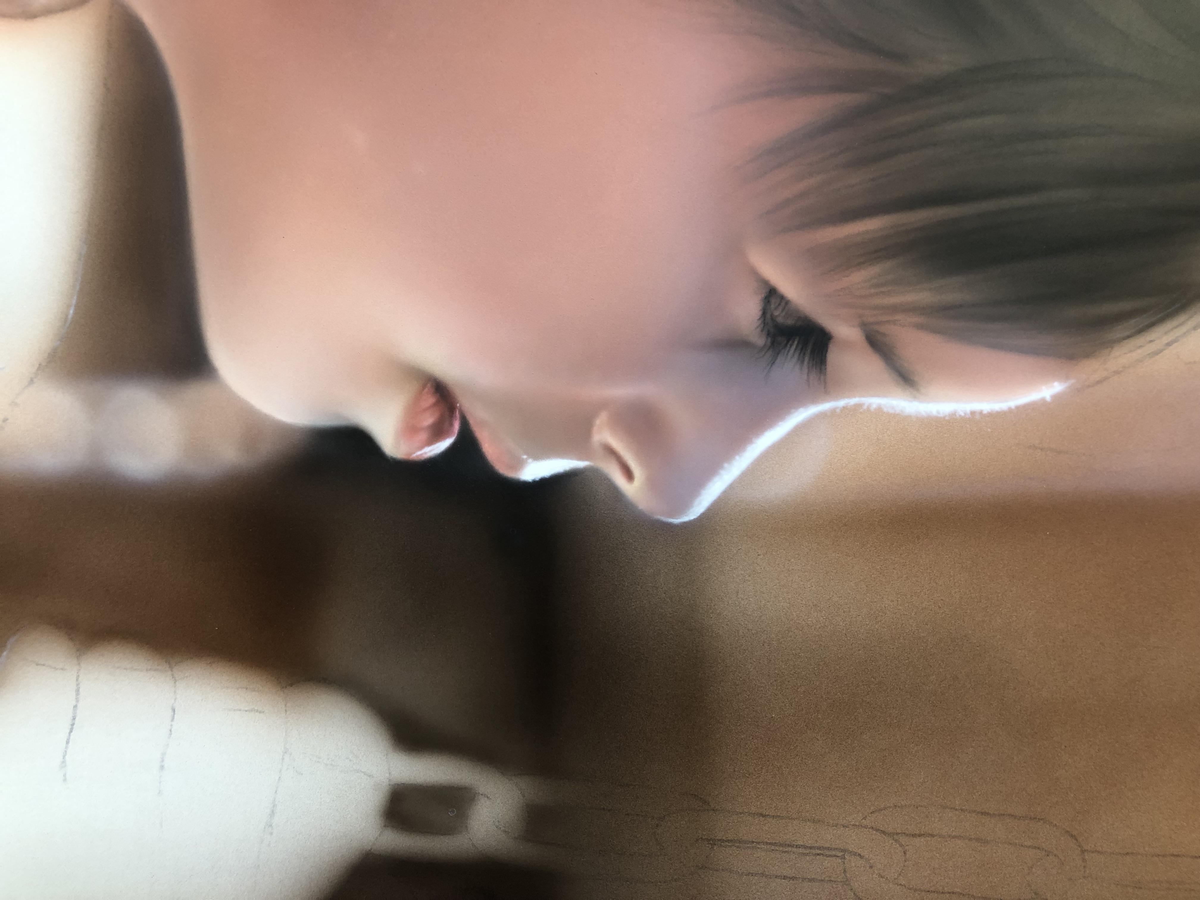 エアブラシアート人物画編髪の描き方肌のハイライト