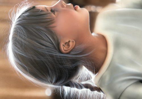 エアブラシカラー人物画編髪の毛の描き方
