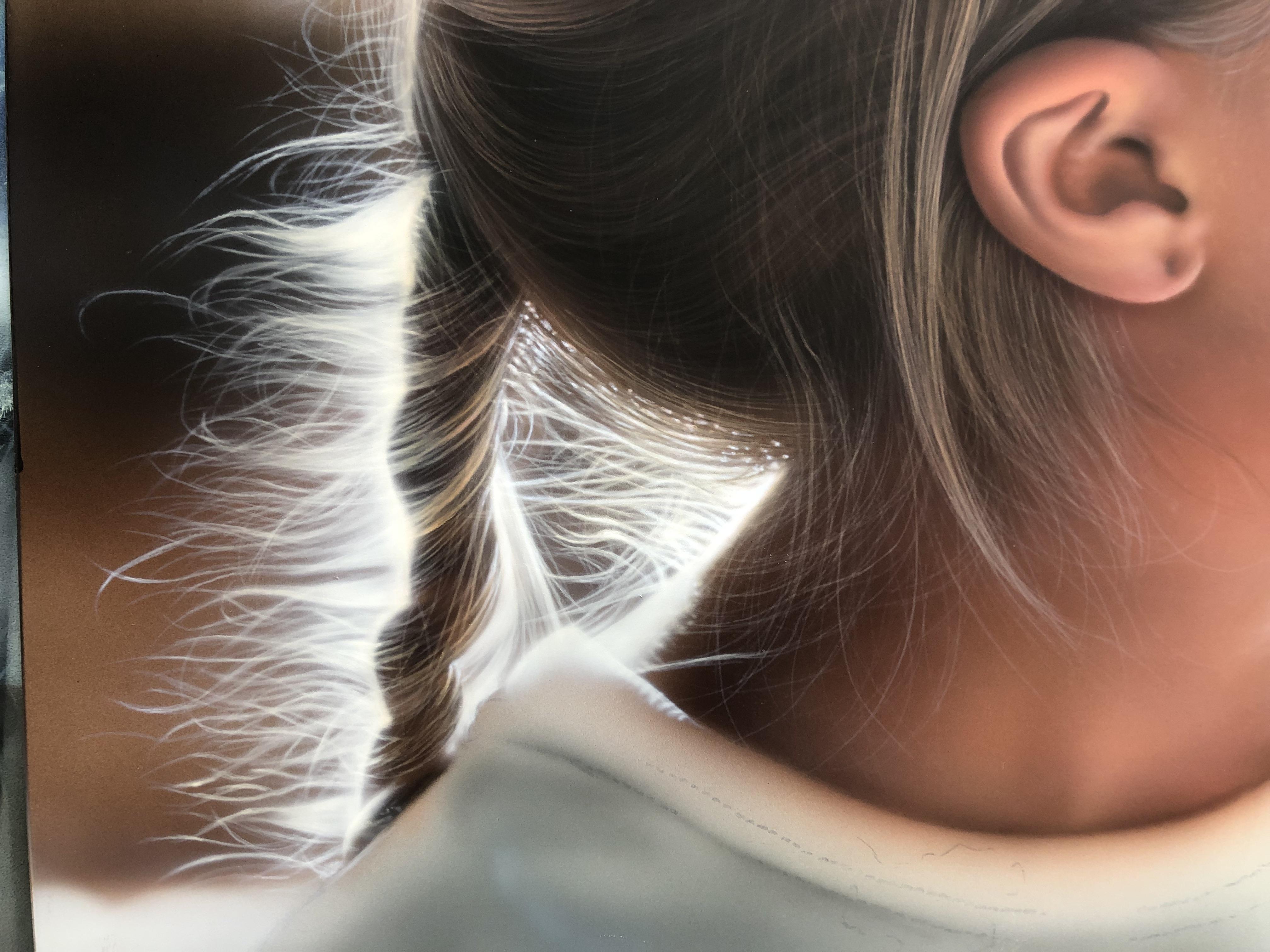 エアブラシアート人物画編髪の毛の描き方