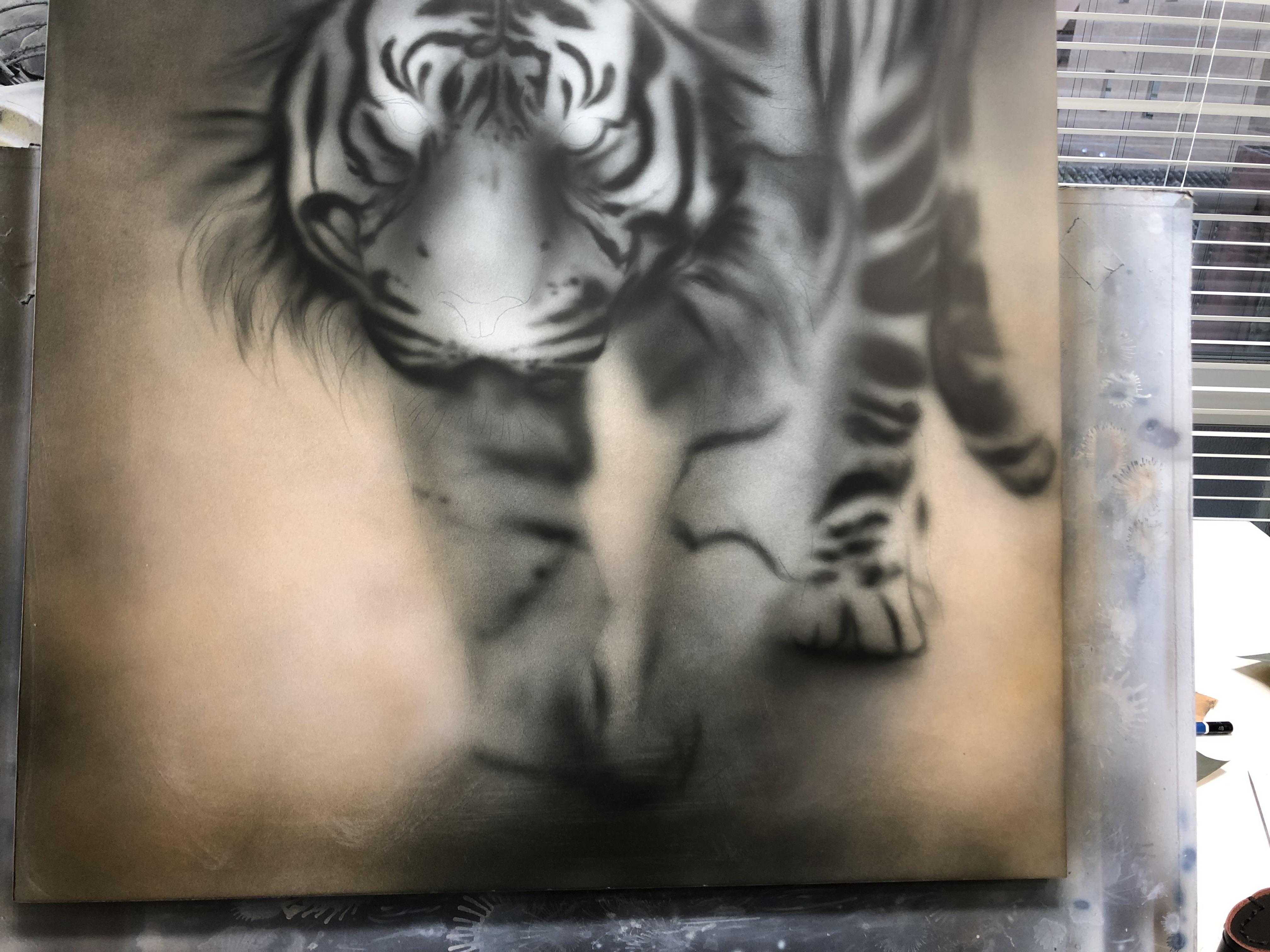 エアブラシアート描き方動物画編トラの模様