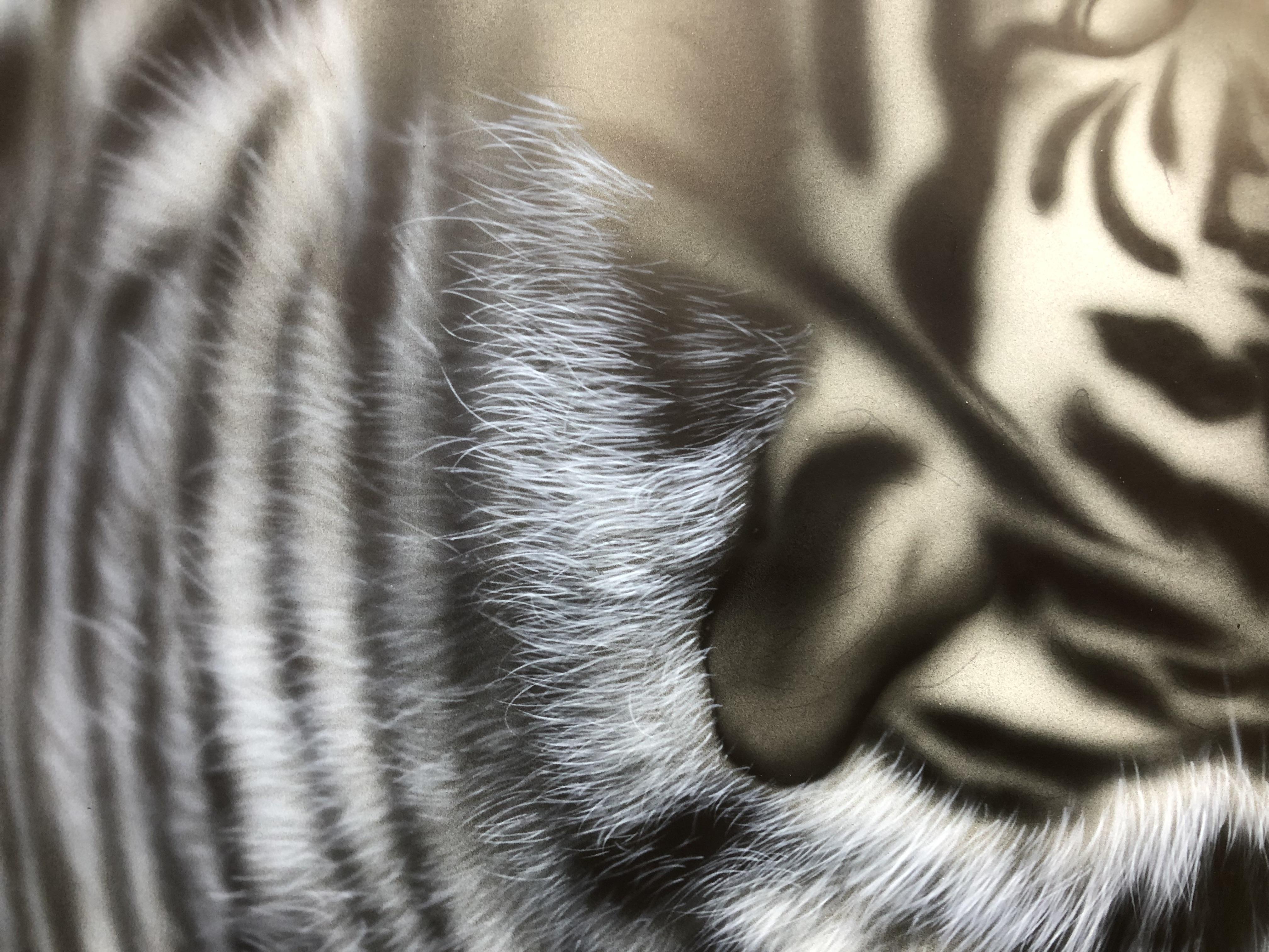 エアブラシアート動物画編、動物の毛の描き方