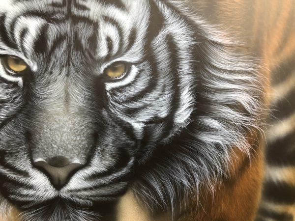 エアブラシアート動物の毛の描き方