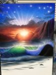 エアブラシアート風景画編波の描き方